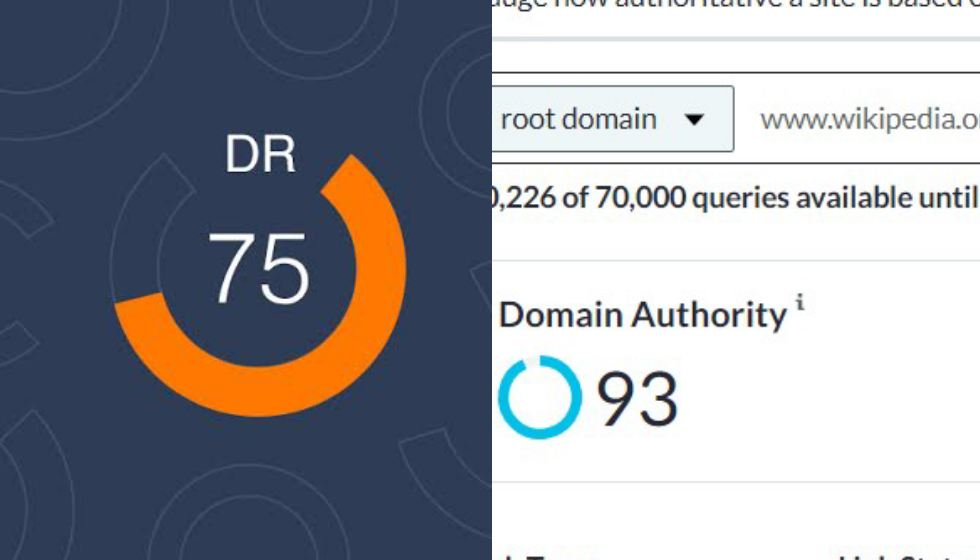 What is Domain Rating (DR) & is it different from Domain Authority (DA)