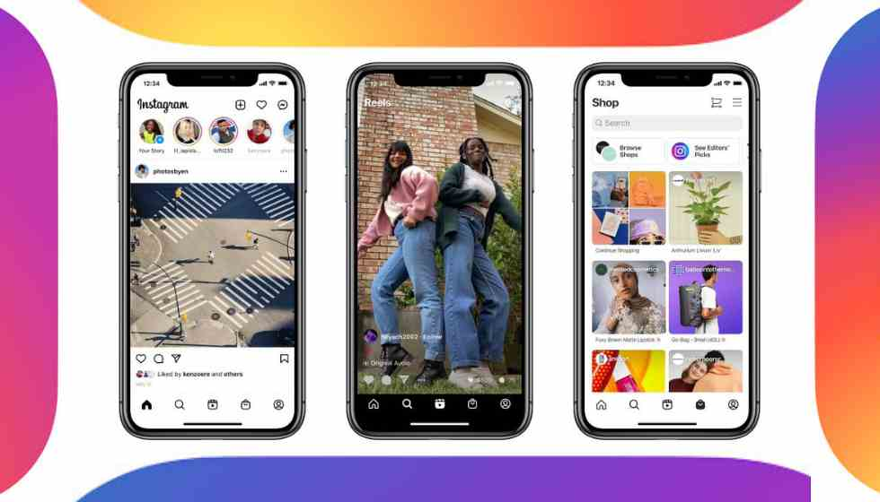 Instagram redesigns its home screen adding Reels and Shop tabs