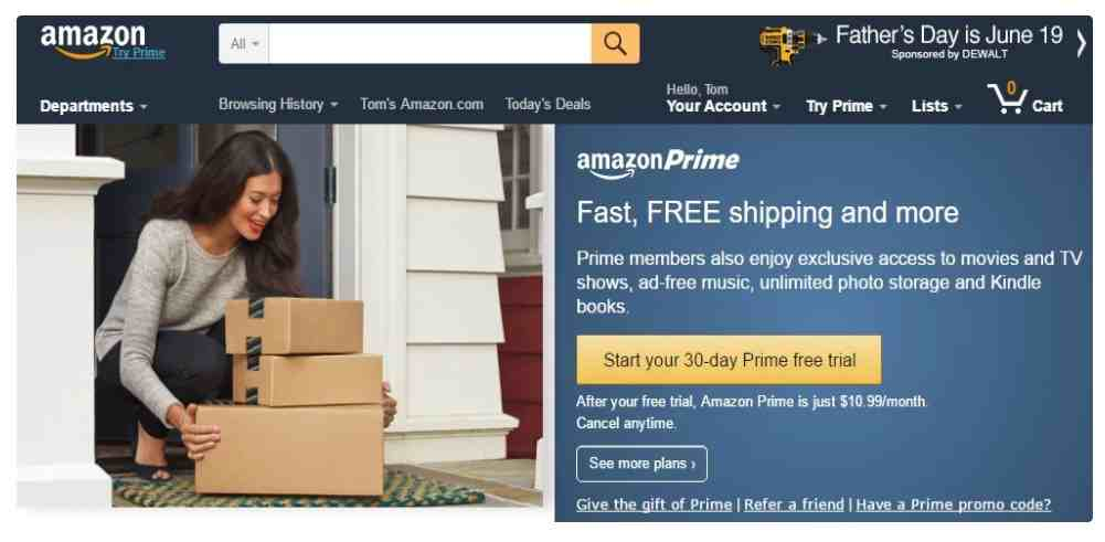 subscriptions based model as Amazon