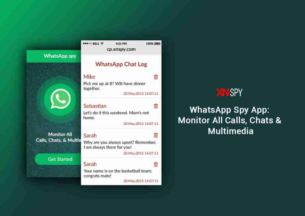 XNSPY WhatsApp Monitoring